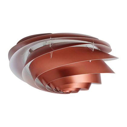 Swirl Væglampe/Loftlampe Medium Kobber - Le Klint