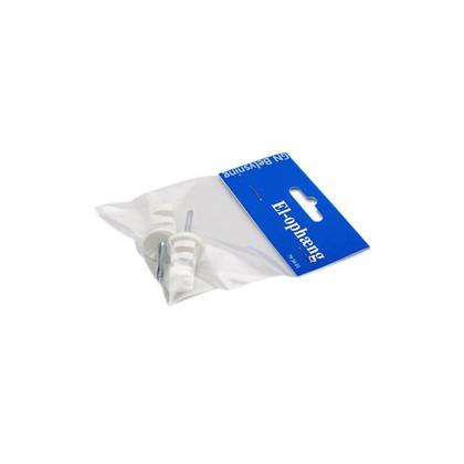 El-ophæng med skrue 2-pak - Hvid