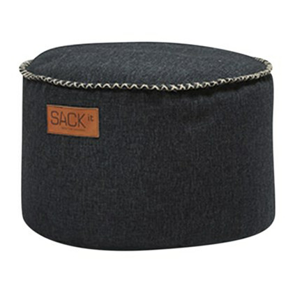 RETROit Cobana Drum Puf Udendørs - Black, SACKit