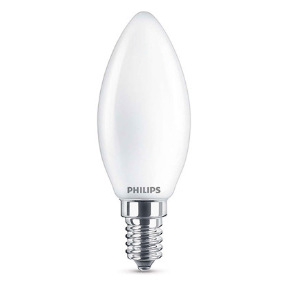 Pære LED 2,2W Glas Kerte (250lm) E14 - Philips