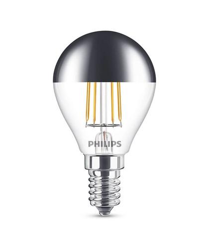 Pære LED 4W Filament Topforspejlet Krone (397lm) E27 - Philips