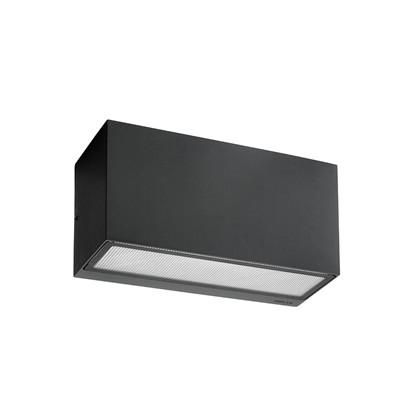 Asker Up/Down Udendørs Væglampe 22,5 cm Sort - Norlys