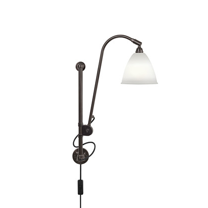 Bestlite BL5 Væglampe Black Brass/Porcelæn - Gubi