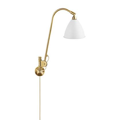 Bestlite BL6 Væglampe Ø16 Messing/Mat Hvid - GUBI