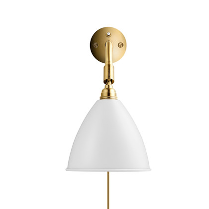 Bestlite BL7 Væglampe Ø16 Messing/Mat Hvid - GUBI