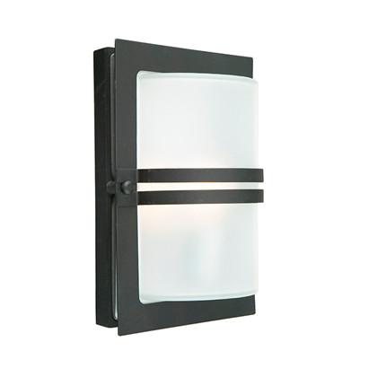 Basel LED Udendørs Væglampe Frostet/Sort - Norlys