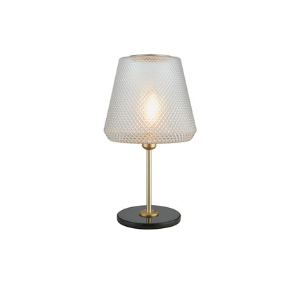 DAMN FASHIONISTA table lamp Ø30 clear/brass Bordlampe - Watt A Lamp