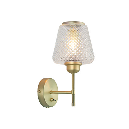 DAMN FASHIONISTA wall lamp Ø15 clear/brass Væglampe - Watt A Lamp