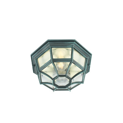 Latina Udendørs Loftlampe Grønpatineret - Norlys