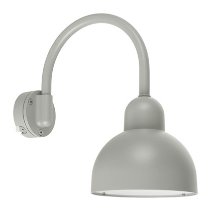 Koster Udendørs Væglampe Buet Arm Alu - Norlys