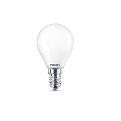 Pære LED 4,3W Glas Krone (470lm) E14 - Philips