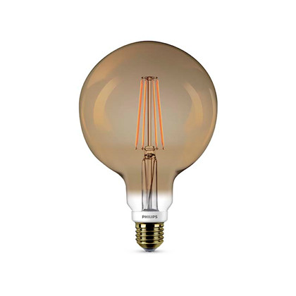 Globe LED Pære 7W E27, Flame - Philips