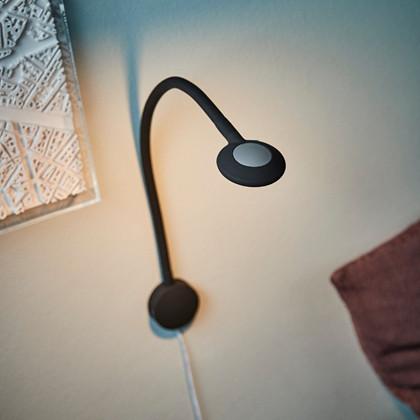 RL 27 LED Væglampe m/2x USB Sort - Raxon