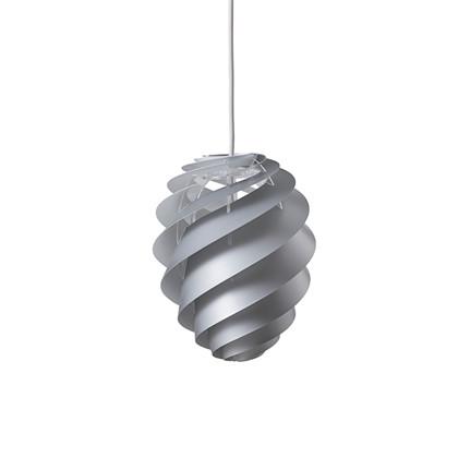 Swirl 2 Pendel Lampe Sølv - Le Klint