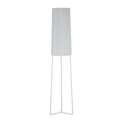 Straight-up Plisseret Gulvlampe - Grå - KS Lampeskærme