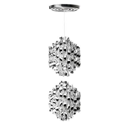 Spiral SP2 Sølv pendel lampe design Verner Panton