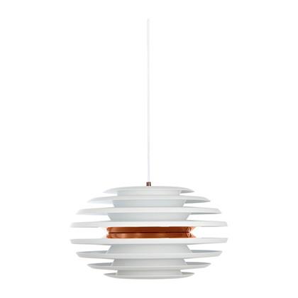 Ellipse Pendel Lampe - Mat Hvid/Kobber - Belid