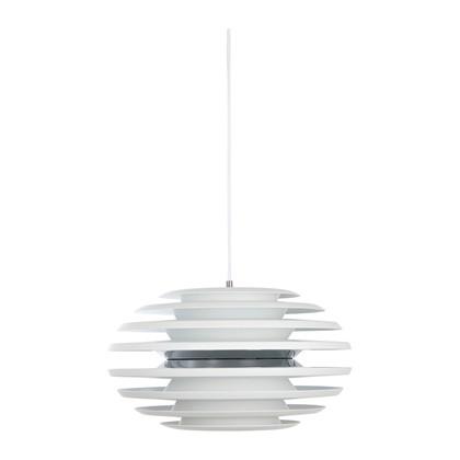 Ellipse Pendel Lampe - Mat Hvid/Krom Ø50 - Belid