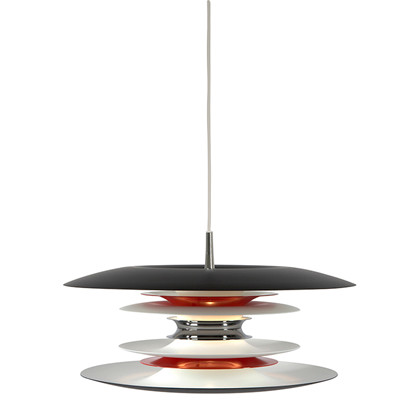 Diablo pendel Lampe mat sort/ blank rød fra Belid