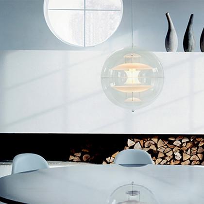 VP Globe Glas Pendel lampe design Verner Panton
