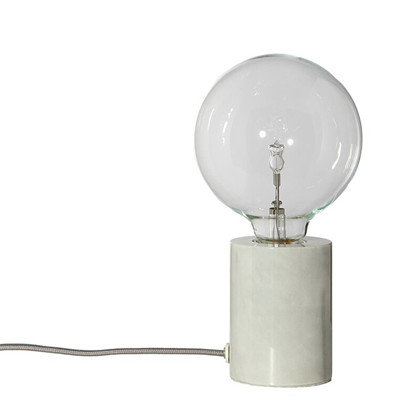 Bristol Bordlampe Hvid Marmor fra Frandsen
