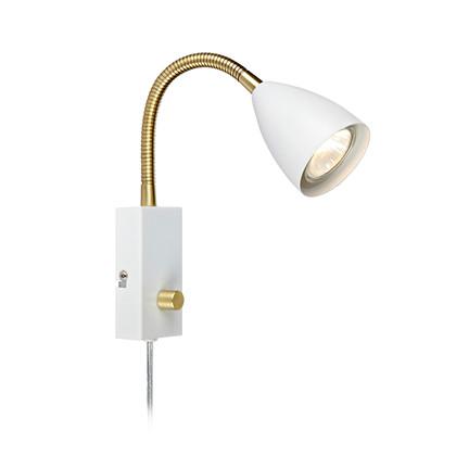Ciro Væglampe med flexarm hvid - Markslöjd