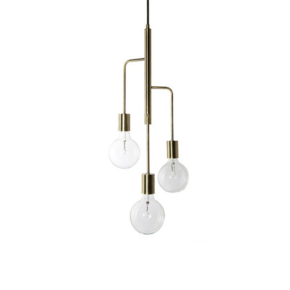 Cool Chandelier Antik Mat Messing - Frandsen