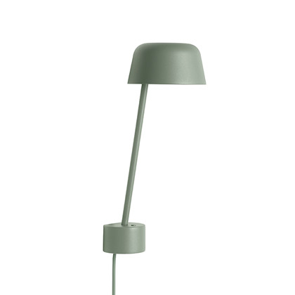 LEAN LED Væglampe Dusty Green - Muuto