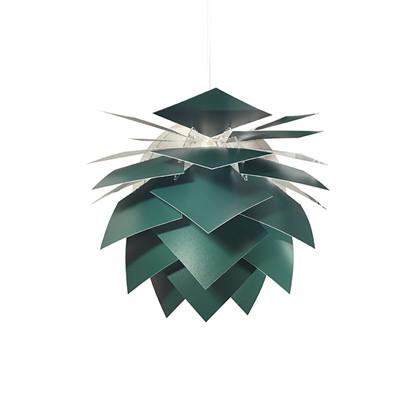 PineApple Medium Pendel Lampe Ø45 cm Mørk Grøn fra Dyberg Larsen