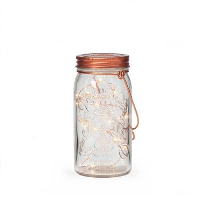 Jar Light Klar Kobber - Tivoli Lights