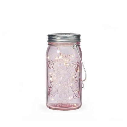 Jar Light Pink Sølv - Tivoli Lights