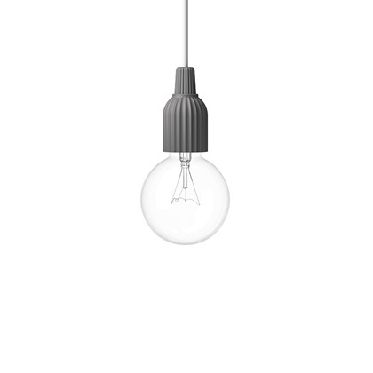 Fitting #01 Pendel Lampe Mørk Grå - Lyngby Porcelæn
