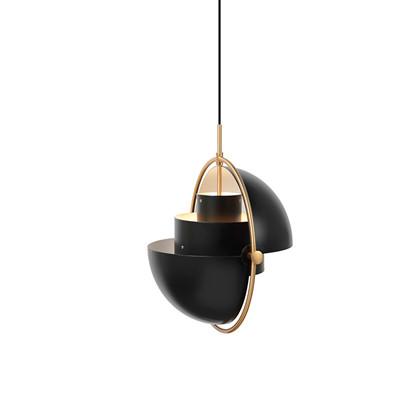 Multi-Lite Pendel Charcoal Black/Brass - Gubi