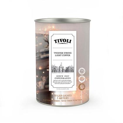 Twister String Light Copper 50  - TIVOLI LIGHTS