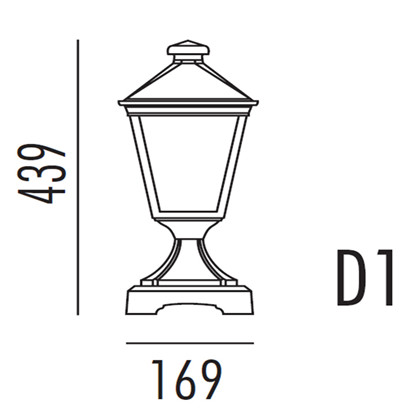 Torino Havelampe Model D1 fra Noral
