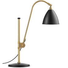 Bestlite BL1 bordlampe i charcoal og messing - Gubi