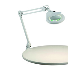 HALLTORP Table 1L White with Magnifying Glass Bordlampe - Markslöjd