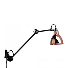222 Væglampe Sort/Kobber - Lampe Gras