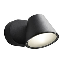 CUP 1 WALL LAMP 4W LED 230V BLACK Væglampe - LIGHT-POINT