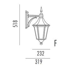 Regent Utendørs Vegglampe Modell F fra Noral