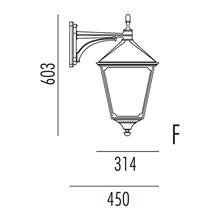 Classic Utendørs Vegglampe Modell F fra Noral