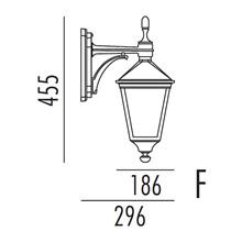 Torino Utendørs Vegglampe Modell F fra Noral