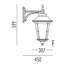 Park Utendørs Vegglampe Modell F fra Noral