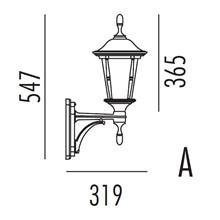 Princess Utendørs Vegglampe Modell A fra Noral
