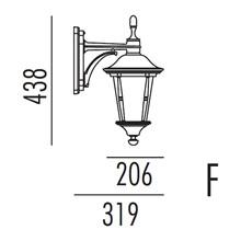 Princess Utendørs Vegglampe Modell F fra Noral