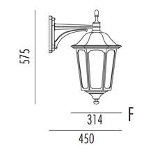 Plaza Utendørs Vegglampe Modell F fra Noral