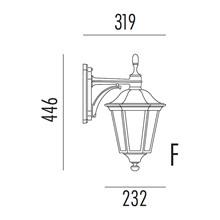 Allegro Utendørs Vegglampe Modell F fra Noral