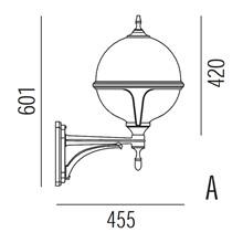 Roulette III Utendørs Vegglampe Modell A fra Noral