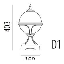 Roulette II Hagelampe Modell D1 fra Noral