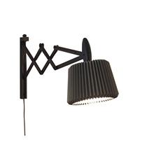 Le Klint 335 Væglampe Sortbejdset Eg med Snowdrop skærm - Anthracite Grey